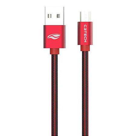 Cabo micro USB 2.0 AM x USB C3Tech CB-200RD