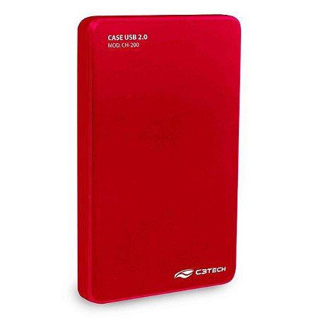 Case para HD externo USB 2.0 C3Tech CH-200RD