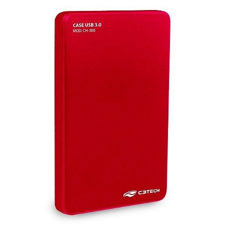 Case para HD externo USB 3.0 C3Tech CH-300RD