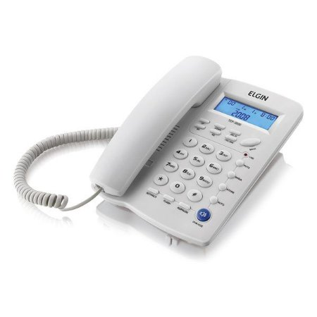 Telefone com fio Elgin TCF 3000 branco