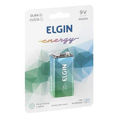 Bateria alcalina 9V Elgin (Blister com 1)