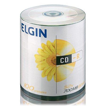 CD-R Elgin 80 min 700 MB 52x - Embalagem com 100 unidades (82040)