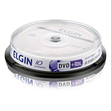 DVD+R Elgin 8,5 Gb 240 min 8x Dual layer - Pino com 10 unidades (82083)