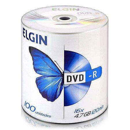 DVD-R Elgin 4,7 Gb 120 min 16x - Embalagem com 100 unidades (82050)