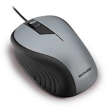 Mouse USB Multilaser MO225 preto/grafite