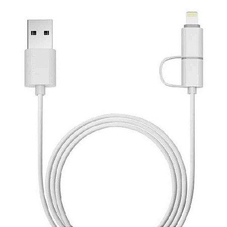 Cabo micro USB + Lightning 8 pinos x USB Plus Cable USB-UL3000WH