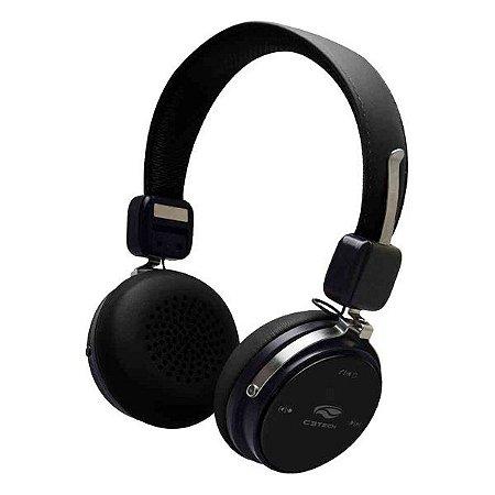Fone de ouvido Bluetooth com microfone C3Tech PH-B600BK