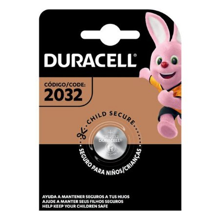 Bateria Lithium 3V CR 2032 Duracell (Blister com 1)