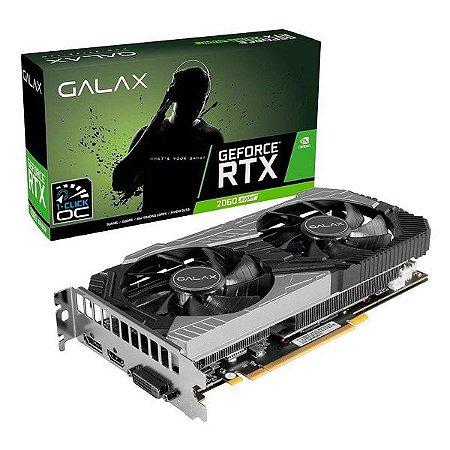 Placa de vídeo PCI-E Galax nVIDIA GeForce RTX 2060 8 Gb GDDR6 256 Bits (26ISL6HP68LD)