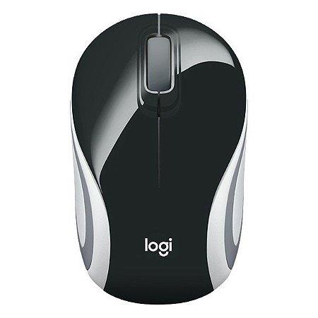 Mouse mini wireless Logitech M187 preto (910-005459)