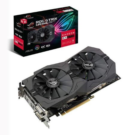 Placa de vídeo PCI-E Asus AMD Radeon RX 570 8 Gb GDDR5 256 Bits (ROG-STRIX-RX570-08G-GAMING)