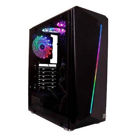 Gabinete gamer oex Shelter GH200 RGB preto (48.7211)