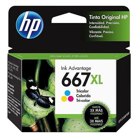 Cartucho de tinta HP 667XL colorido (3YM80AL)