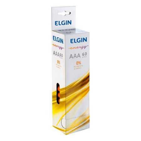 Pilha AAA Zinco 1.5V Elgin R03 (Embalagem com 60)