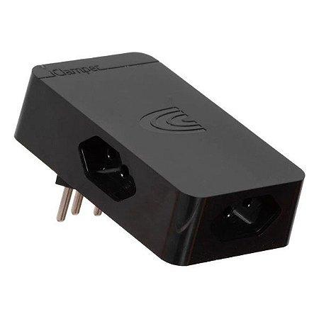Protetor de surto 3 pinos bivolt 3 tomadas Clamper iClamper Energia 3 preto