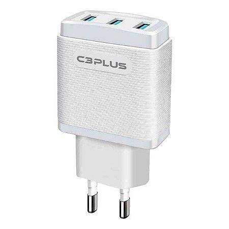 Carregador universal bivolt 3 saídas USB 3.1A C3Plus UC-30WHX