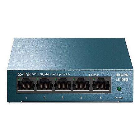 Switch Ethernet 5 portas Gigabit TP-Link LS105G