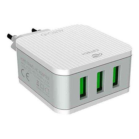 Carregador USB universal C3Tech UC-315WH