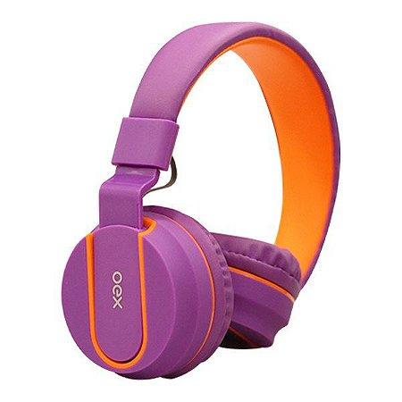 Headset oex Fluor HS107 roxo/laranja (48.5959)