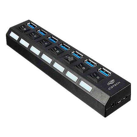 Hub USB 3.0 com chave seletora C3Tech HU-S370BK