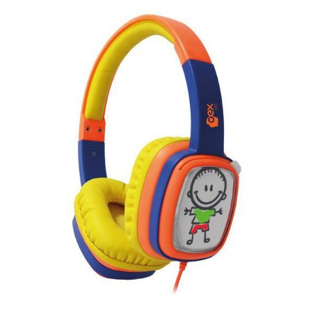 Fones de ouvido infantil oex Cartoon HP302 laranja/azul (48.5937)