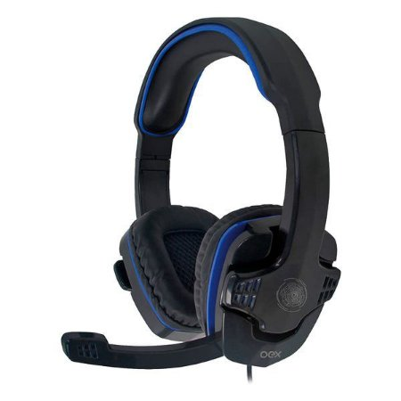 Headset gamer oex Stalker HS209 preto/azul (48.7131)