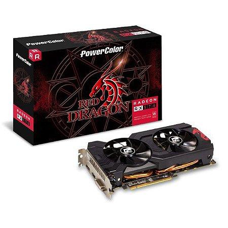 Placa de vídeo PCI-E PowerColor AMD Radeon RX 570 4 Gb GDDR5 256 Bits (4GBD5-DHDV3/OC)