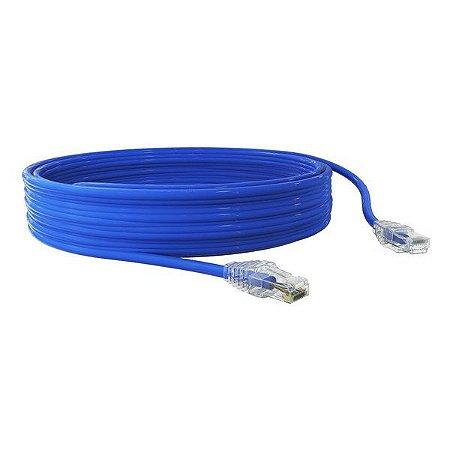 Cabo de rede Ethernet Cat 5E 10 metros Furukawa SOHO Plus azul (35103027)