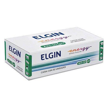 Bateria alcalina 12V A23 Elgin (Caixa com 50)