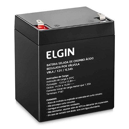 Bateria selada de Chumbo para Nobreak 12V 4,5Ah Elgin