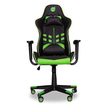Cadeira gamer dazz Prime-X preta/verde (62000009)
