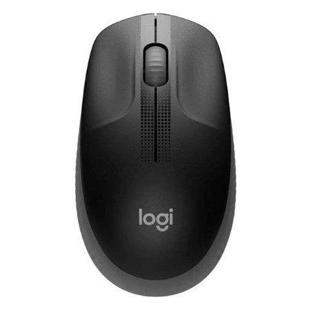 Mouse wireless Logitech M190 preto/cinza (910-005902)
