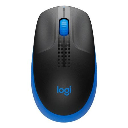 Mouse wireless Logitech M190 preto/azul (910-005903)