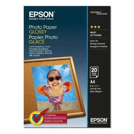 Papel Photo Paper Glossy A4 200gr Epson S041140 (20 folhas)