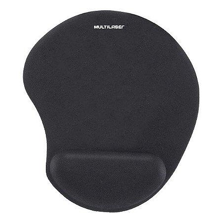 Mouse pad com apoio ergonômico em gel Multilaser AC024