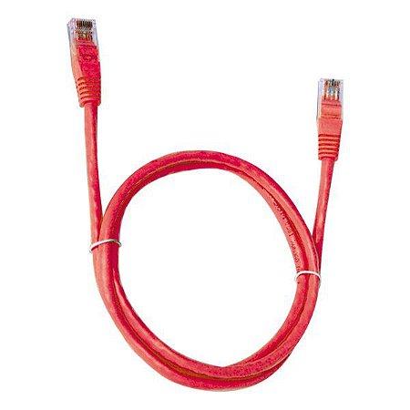 Cabo de rede Ethernet Cat 5E 2,5 metros Plus Cable PC-ETHU25RD