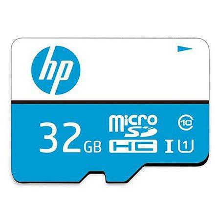 Cartão de memória MicroSDHC Class10 com adaptador 32 Gb HP mi210 (HFUD032-1U1BA)