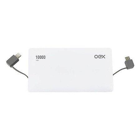 Power bank USB 10000 mAh oex Deluxe PB302 branco (48.5917)