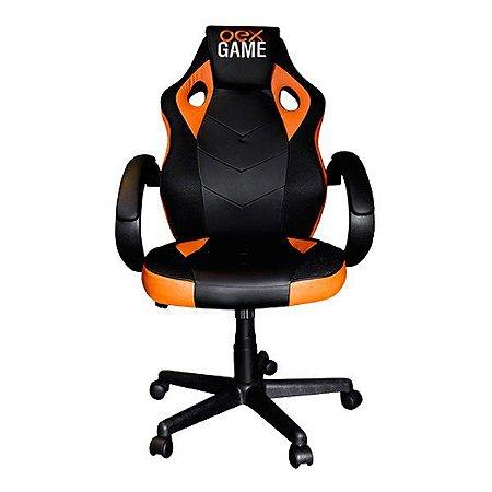 Cadeira gamer oex CG200 preta/laranja (65.0006)