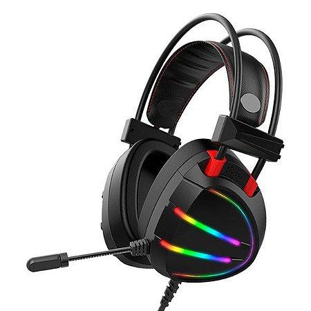 Headset gamer K-MEX AR70 preto