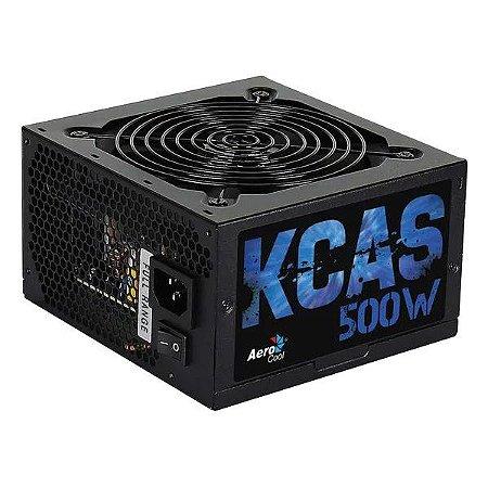 Fonte de alimentação ATX 500W reais 80Plus Bronze Aerocool KCAS-500W