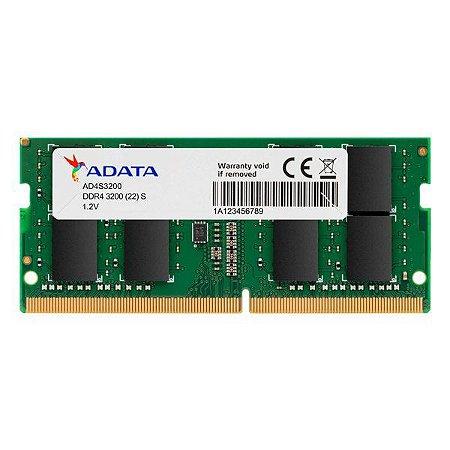 Memória notebook 4 Gb DDR4 ADATA 3200 MHz