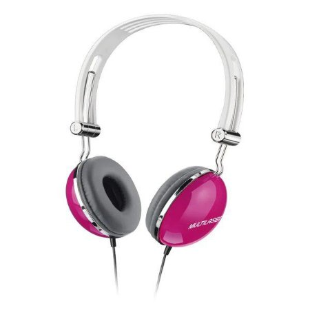 Fones de ouvido Multilaser Superbass PH055 rosa