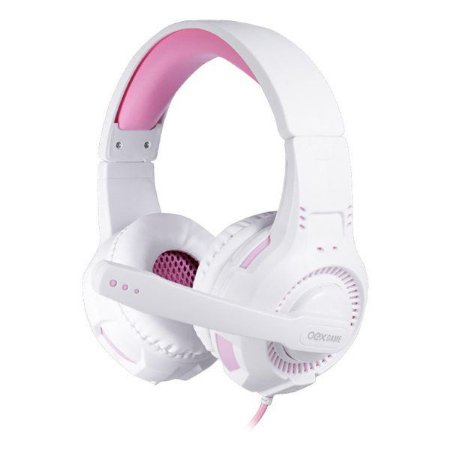 Headset gamer oex Gorky HS413 branco/rosa (48.7333)