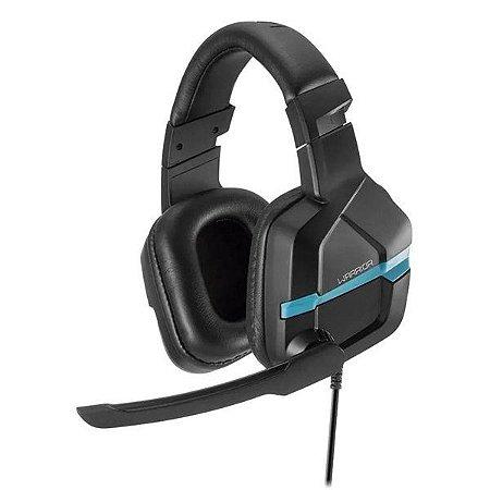 Headset gamer Multilaser Warrior Askari PH292 preto/azul