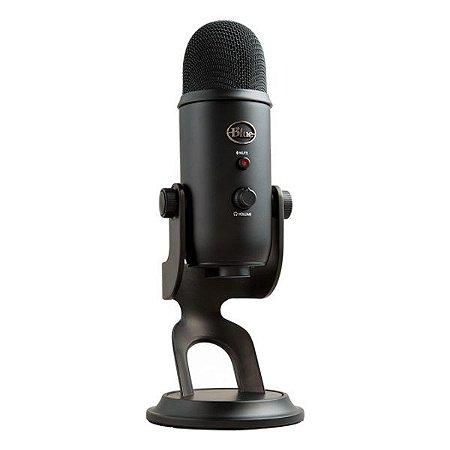 Microfone condensador USB Blue Yeti preto (988-000100)
