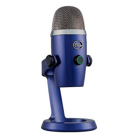 Microfone condensador USB Blue Yeti Nano azul (988-000089)