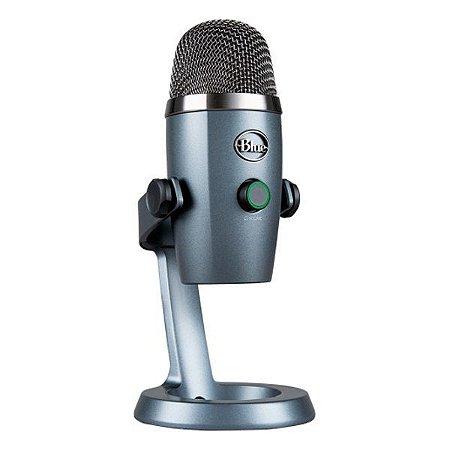 Microfone condensador USB Blue Yeti Nano cinza (988-000088)