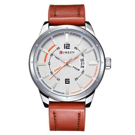 857fa3c7b8f Relógio Masculino Curren Analógico 8211 Branco - MegaHora