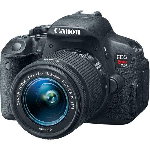 Câmera Canon EOS Rebel T5i DSLR com lente 18-55mm